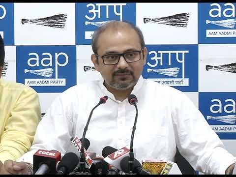 AAP Senior Leader Dilip Pandey Briefs Media on Petrol Prise Hike