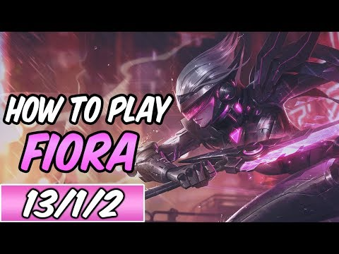 How To Play Fiora New Build Runes Diamond Commentary Project