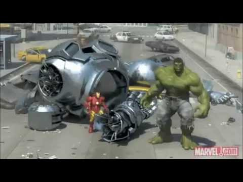 Battle of the superheroes - Spider-Man, Iron Man and the Hulk