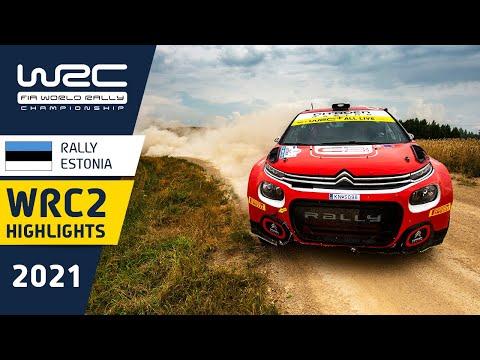 WRC2 2021 第7戦ラリー・エストニア 土曜日のハイライト動画