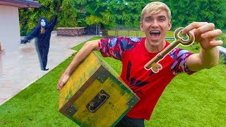 Rebecca Zamolo Game Master Twin Chases Island Adventure Treasure Chest Found in Hawaii Jungle!!