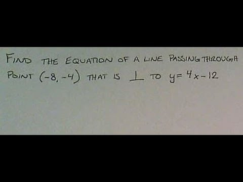 Find the Equation of A Line Passing Through a Point