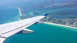 United A320 Takeoff Sarasota-Bradenton (SRQ)