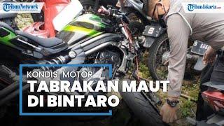 Kecelakaan Maut di Bintaro, Kondisi Moge Hancur Bagian Depan, Motor Beat hanya Rusak Ringan