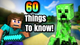 60 Things You NEED to Know About Minecraft! Best Survival Guide