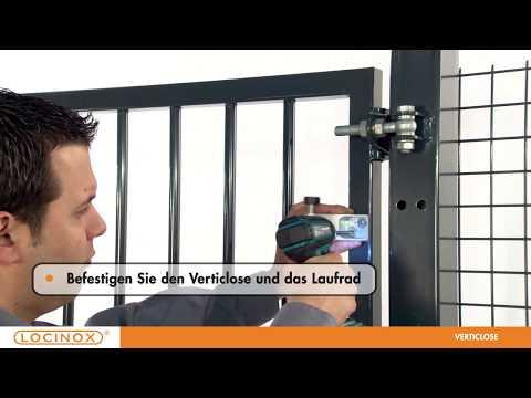 Locinox - Vertikale Türschliesser - VERTICLOSE - Installation Video