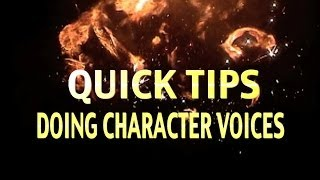 RPG Quick Tips: Doing Character Voices