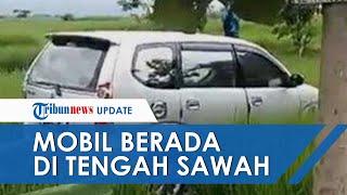 Viral Mobil Tiba-tiba di Tengah Sawah Dikaitkan dengan Kejadian Mistis, Ternyata Kecelakaan Tunggal