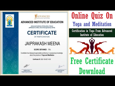 Free Quiz Certificate | Online Quiz On