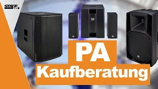 PA Kaufberatung 2019 - Welches PA System passt zu mir? | stage.choice