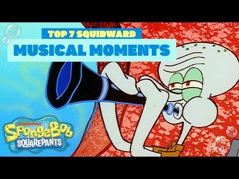 Squidward Tentacles Music Moments 🎤 #TuesdayTunes | SpongeBob