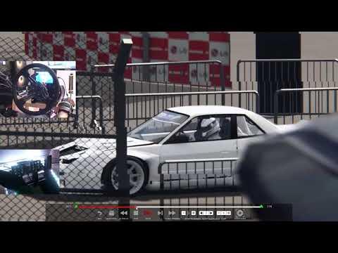 Bushido Style Drift Comp car testing on assetto corsa - wheel/pedal cam-