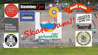 Freshwater skate jam with fpv & 360 cam