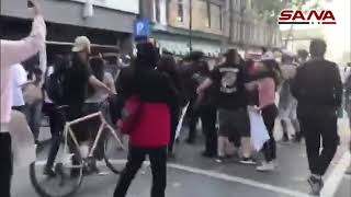 أعمال عنف ودهس للمتظاهرين في الولايات المتحدة الأمريكية