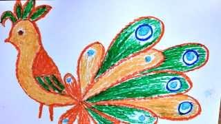 Смотреть онлайн Как нарисовать жар птицу карандашами поэтапно