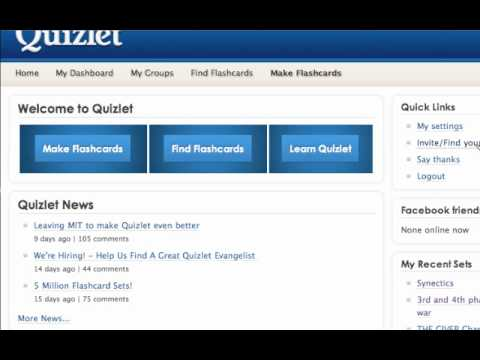Quizlet tutorial