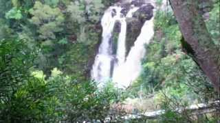 preview picture of video 'Three Falls on Puohokamoa Stream, Maui'