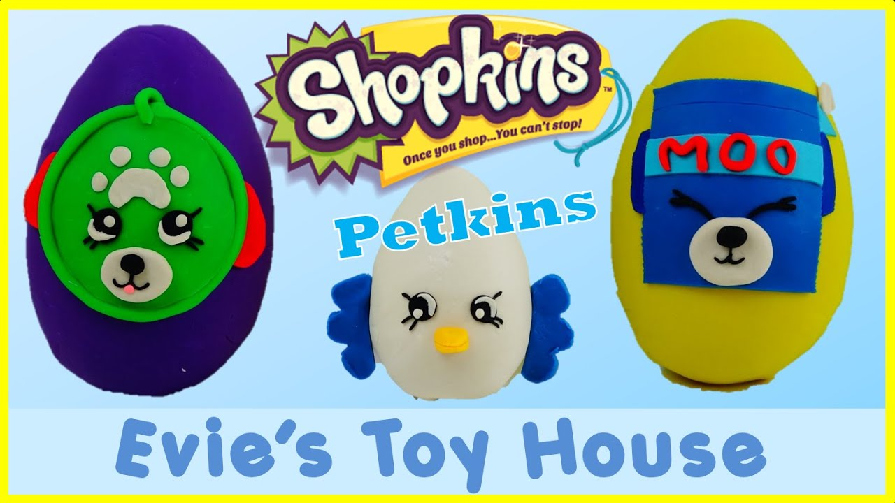 Shopkins Season 4 Petkins Giant Surprise Play-doh Egg | Evies Toy House
