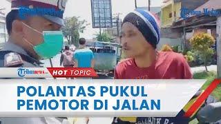 Viral Video Pengendara Motor Provokasi Oknum Polantas sebelum Adu Jotos hingga Terkapar di Jalanan