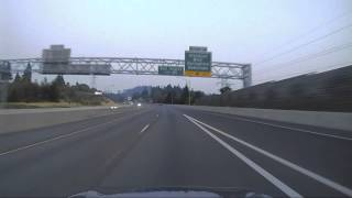 Interstate 5 Southbound thru Oregon: Turner, Albany, Eugene