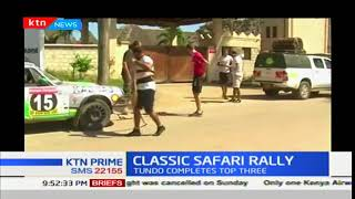 Englishman Richard Jackson leads the Classic Safari rally heading to Tanzania