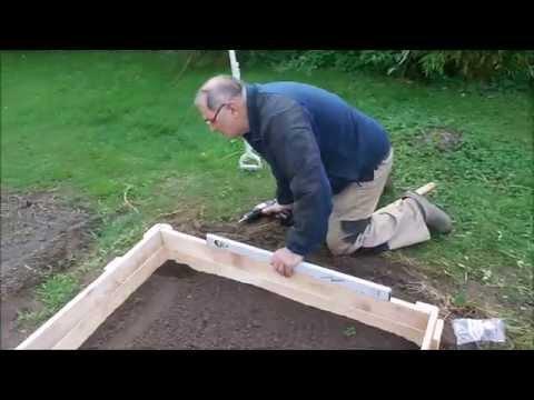 Raised Bed  Beeteinfassung aus Palettenholz