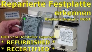 Western Digital HGST HDD Refurbished + Recertified erkennen - [English subtitles]