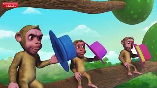The Cap Seller and the Monkeys | Telugu Stories for Kids | Infobells