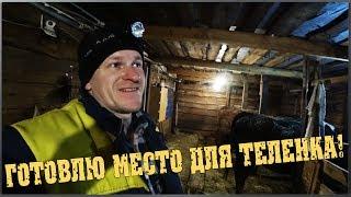 Готовлю место для телёнка / Ведро для выпойки телят / Семья в деревне