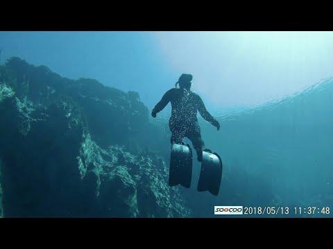 Самарский фридайвер снял видео погружения на 15-метровую глубину в Голубом озере