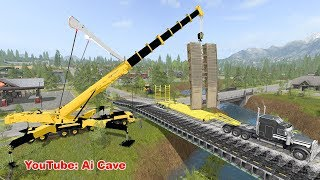 """How to Build a Bridge in """"Farming Simulator 2017"""" with mods."""