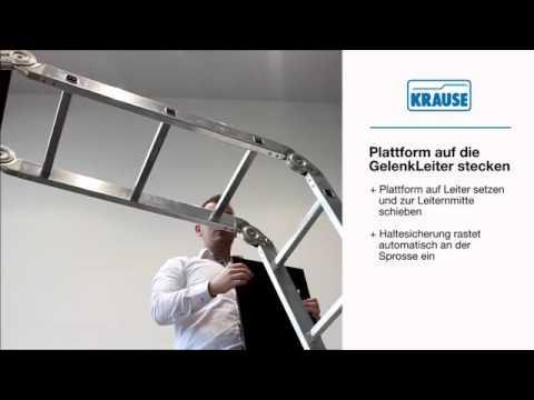 KRAUSE Technik Clip KRAUSE GelenkLeiter Plattform Set   Videoanleitung