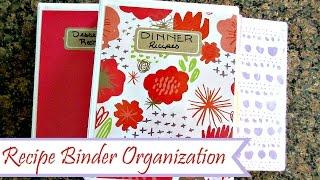 How To: DIY Recipe Binder | Recipe Organization