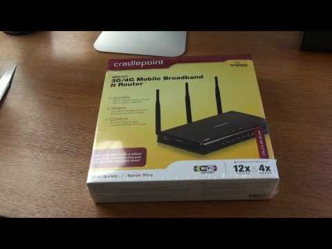 Cradlepoint 3G/4G Mobile Broadband Router Unboxing