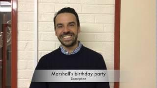 Marshall's 6th birthday party