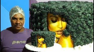 fácil decorar bolo com tema cabelo Black   j.o confeitaria