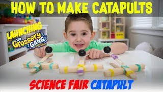 Science Fair Projects - DIY Catapult With Popsicle Sticks - STEM Science Fair Projects Ideas