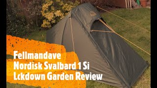 Nordisk Svalbard 1si One person tunnel tent Garden review