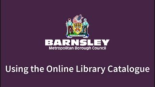 Using the Online Library Catalogue