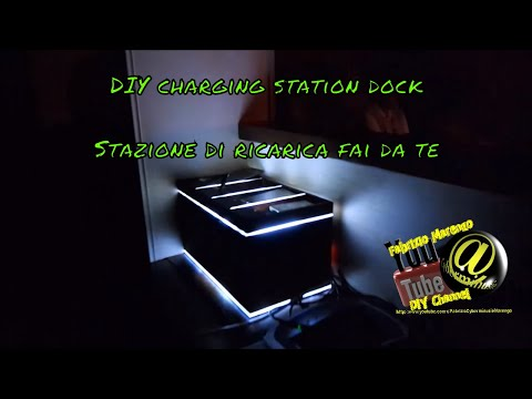 Stazione di Ricarica Smartphone fai da te ( how to build DIY Smartphone charge station stand )