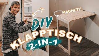 Platzsparender DIY 2-in-1 Klapptisch für Tiny House & kleine Wohnungen selber bauen | EASY ALEX