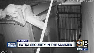 Burglar targets home for sale in Phoenix