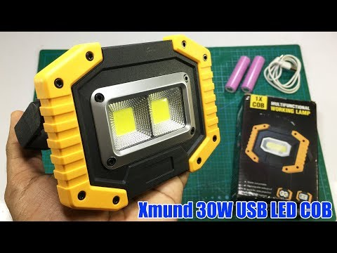 Xmund XD-SL2 30W USB LED COB Outdoor 3 Modes Emergency Light Test Review