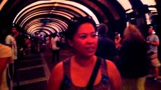 Jen inside the Voice Tunnel under Park Ave