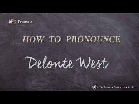 How to Pronounce Delonte West  |  Delonte West Pronunciation