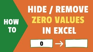 Hide Zero Values in Excel | Make Cells Blank If the Value is 0
