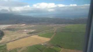 preview picture of video 'Landing at Kahului, Maui from Honolulu'