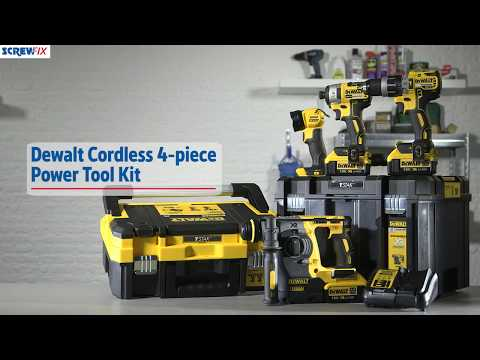 DeWalt DCK456M3T-GB 18V 4.0Ah Li-Ion XR  Cordless 4-Piece Power Tool Kit