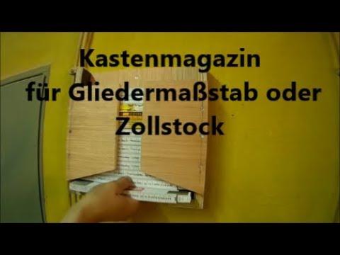 Meterspender Kastenmagazin für Gliedermaßstab oder Zollstock Spender Magazin ohne French Cleat