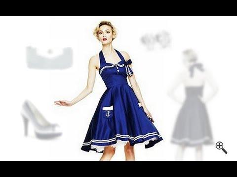 Damen Marine Kleid mit Petticoat: Olivia suchte ein Marineblaues Kleid im Marine Look